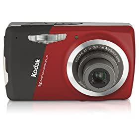 Kodak EasyShare M530 12MP Digital Camera with 3x Wide Angle Optical Zoom and 2.7 Inch LCD (Red)