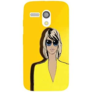 Motorola Moto G Back Cover - Yellow Colored Designer Cases