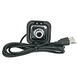 Black 5.0 MegaPixel USB 2.0 Digital Webcam with Mic