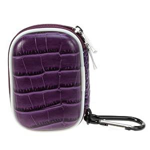 BiruGear Purple Small Zipper Pouch Hard Eva Case for Apple iPod Nano 16GB 7th Generation / 8GB 16GB (6th Generation) 6 6G & iPod shuffle 2GB (4th Generation), SanDisk Sansa Clip plus, Sansa Clip Zip, Sansa Fuze+, Sansa Clip, Sansa Fuze
