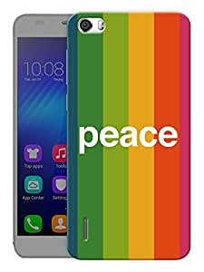 "Humor Gang Peace Strips Printed Designer Mobile Back Cover For ""Huawei Honor 6"" (3D, Matte, Premium Quality Snap On Case)"