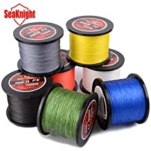 1000M SeaKnight Tri-Poseidon Series Braid Wire PE Braided Fishing Line Braided Line 8-60LB- 4.0, Gray