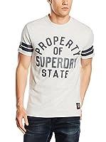 Superdry Camiseta Manga Corta (Gris Claro)