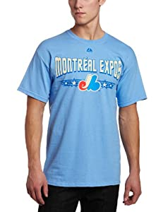 Montreal Expos Majestic CooperstownTickets Tee Light Blue T-Shirt by Majestic