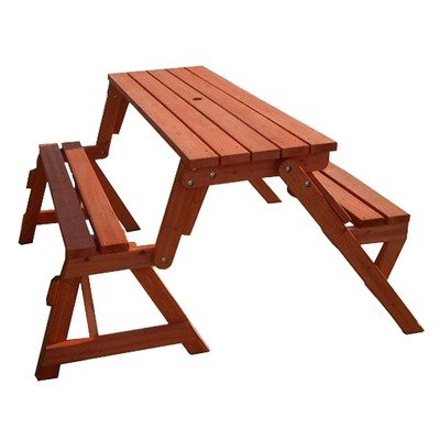 Convertible Wood Picnic Table and Garden Bench picture