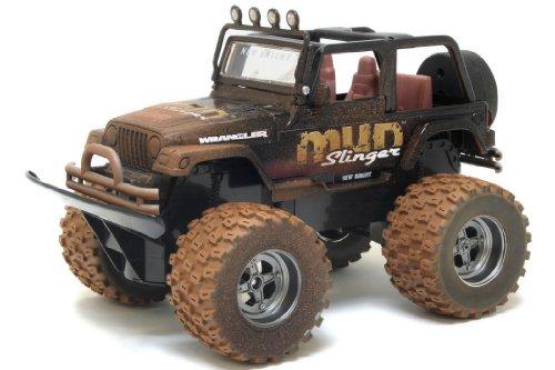 415za5mPBZL New Bright Mud Slinger Jeep Wrangler Radio Control Car (Colours May Vary)