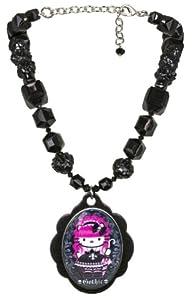 Tarina Tarantino Hello Kitty Pink Head Gothic Necklace