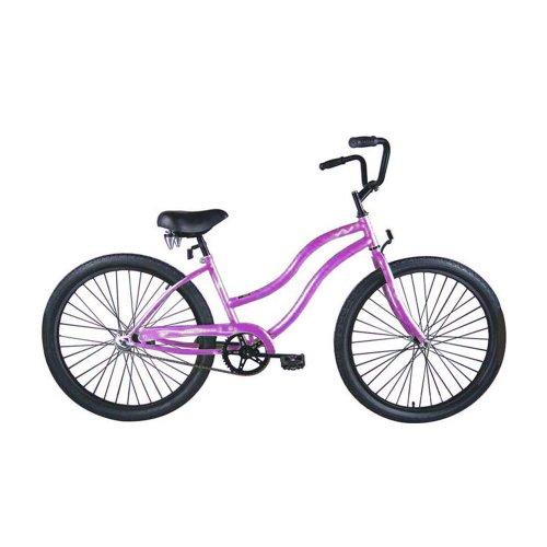 Micargi Touch Beach Cruiser Bike, Purple, 26-Inch
