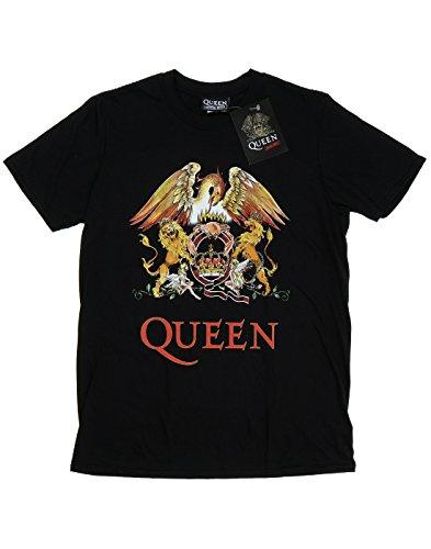 Queen Bambini e ragazzi Crest Logo Maglietta 14-15 Years Nero