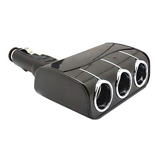 Doinshop Cool Stylish Three Way Car Cigarette Lighter Socket Splitter 12V Charger Power Adapter