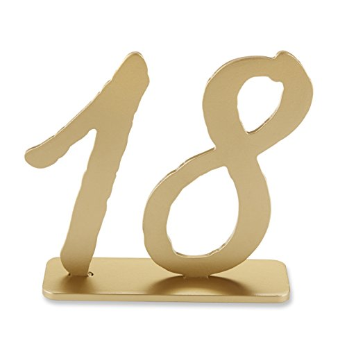 Kate Aspen Good As Gold Classic Table Numbers (13-18) (Weddingtable Numbers compare prices)