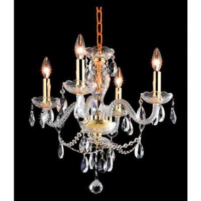 Elegant Lighting Princeton 18-Inch High 4-Light Chandelier