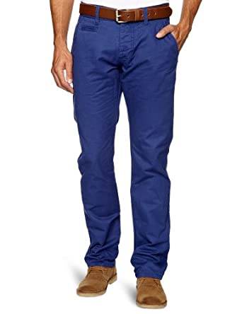 Selected Homme Jeans Men's Three Paris Chino Relaxed Trousers, Twilight Blue, W29/L32