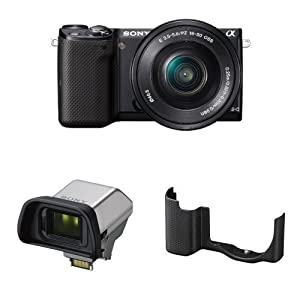 Sony NEX-5TL Compact Interchangeable Lens Digital Camera with 16-50mm Power Zoom Lens, Electronic View Finder and Black Case