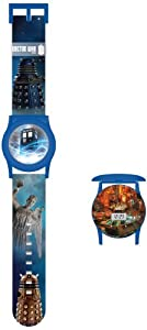 Dr Who Boy's Quartz Watch with LCD Dial Digital Display and Multicolour Plastic Strap DR225