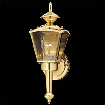 Outdoor Coach Wall Lantern in Polished Brass Wall Porch