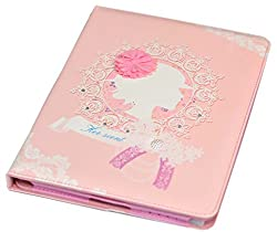 Imported Premium Fancy Designer Flip Flap Stand Diary Wallet Case Cover Pouch for Ipad 2 & 3 - Pink