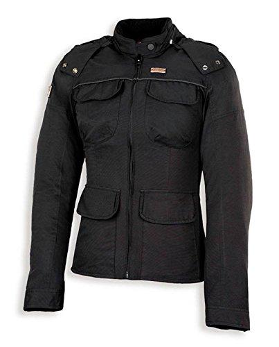 Spyke CITY LADY GT Giacche moto in tessuto per donna (L, Nero)