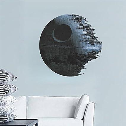 Pegatina de pared vinilo adhesivo decorativo para cuartos, dormitorio,cocina, baño...Star Wars estrella de la muerte OPEN BUY