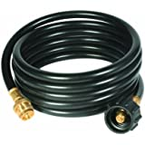 "Camco 59825 12' Propane Hose Assembly - Acme x 1""-20 Male Throwaway Cylinder Thread"