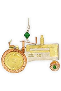 Pilgrim Imports Tractor Metal Fair Trade Ornament