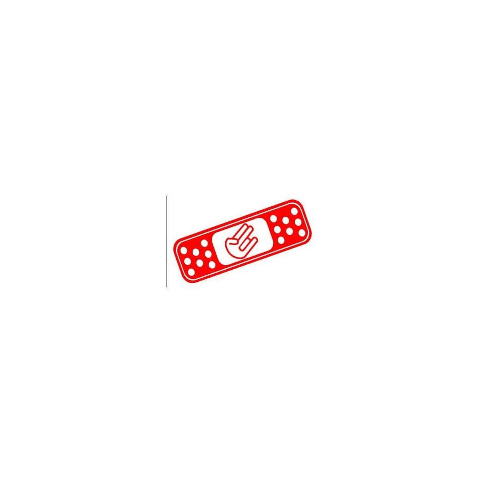 BAND AID SHOCKER CUSTOM   8 RED   Vinyl Decal WINDOW Sticker   NOTEBOOK, LAPTOP, WALL, WINDOWS, ETC.