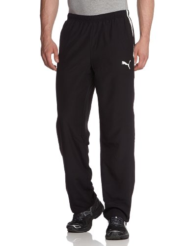 PUMA, Pantalone da presentazione Uomo Spirit Woven Pants, Nero (Black/white), S