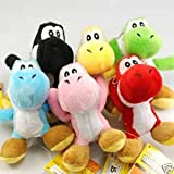 "6 PC Super Mario Bros Brothers Yoshi 5"" Doll Plush"