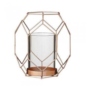 Windlicht Glas & Kupfer