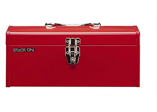 STACK-ON Hip Roof Steel Tool Box Handheld Chest Cabinet Portable Toolbox (Steel Toolbox Hinge compare prices)
