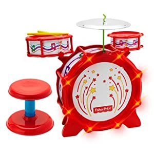 Big Bang Drum Set with Flashing Lights