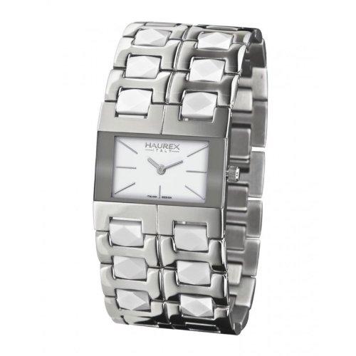 Haurex Italy XA327DW2 - Reloj de mujer de cuarzo, correa de acero inoxidable color plata