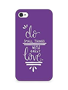 AMEZ do great things with love Back Cover For Apple iPhone 4