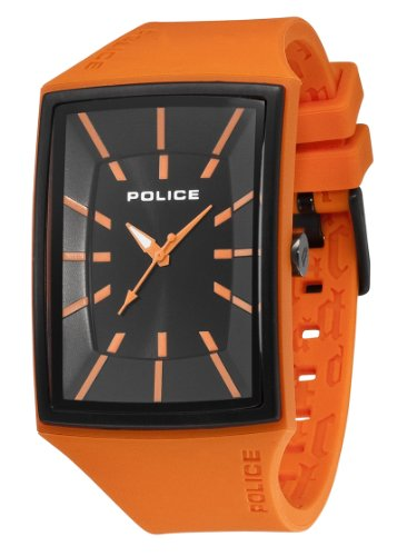 Police Men's Vantage X Watch 13077Mpob/02 with Orange Pu Strap and Black Dial