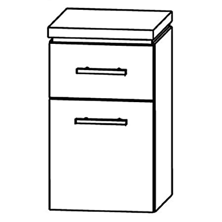 Cool Puris Line (UNA343A5M Bathroom Cabinet 30 CM