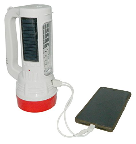 SM Solar Emergency Torch Light with Mobile Charger , SMD Led Rechargeable Lamp