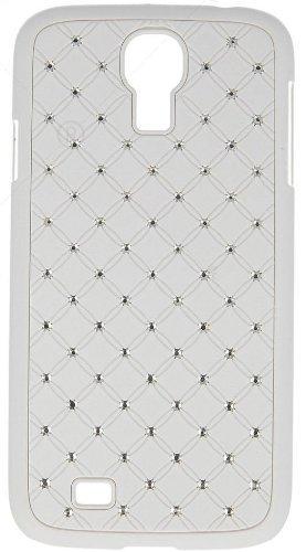 """Handy Back Hard Case Cover """"weiss mit Strass"""" für """"Samsung Galaxy S4 Mini La Fleur bzw. Black Edition"""" Handy Tasche Schale Schutz Hülle Bumper Glitzer Bling"""