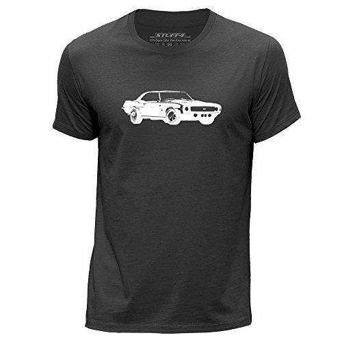 stuff4-hommes-grand-l-gris-fonce-col-rond-t-shirt-stencil-art-voiture-camaro-ss-mk1