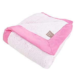 Trend Lab Peek-a-Boo Faux Fur Framed Receiving Blanket, Pink