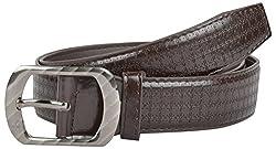 Kalewensen Men's Synthetic Belt (Tan, 110 cm )