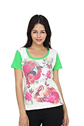 Girl's Printed Short Sleeve Round Neck cotton Tees by Bongio_ RWS5F2004_S