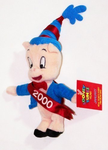 "A Looney Tunes Year: 7"" New Year's Porky Mini Bean Bag (January 2000)"
