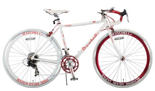 Raychell+(レイチェルプラス) 700Cクロモリフレームシマノ14段変速ロードバイク[フレームサイズ480mm・コイルワイヤー錠/前後シリコンLEDライト付属] R+714 SunRise (480)