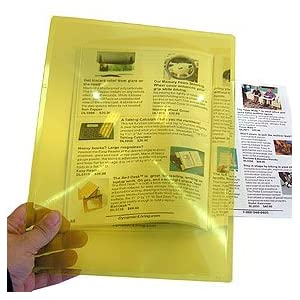RX Optics Full Page Magnifier - Amber