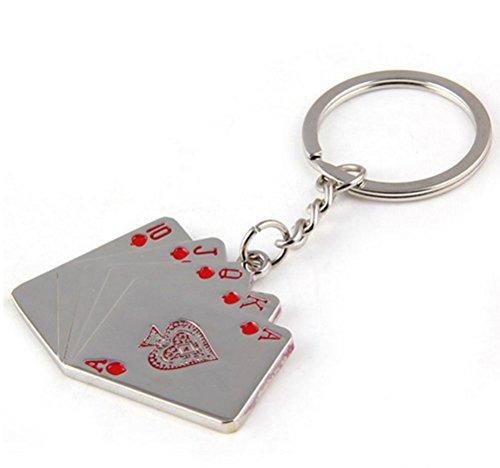 Portachiavi auto flush Poker catena chiave maschile di moda , 1