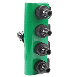 WMA 4 Way Garden Tap Hose Pipe Connector Splitter Adaptor