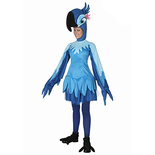 [LifeshoppingMall Women's Cartoon Animal Cosplay Costume Adult Blue Parrot Clothes] (Parrot Costume Female)