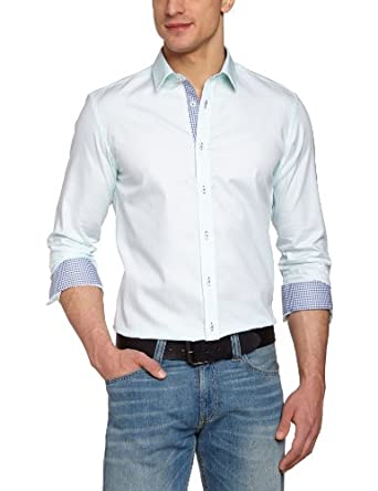 Jack & Jones Premium - Chemise - Manches longues - Homme - Multicolore (Bay) - FR : Small (Taille fabricant : Small)