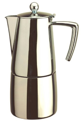 Art Deco Stovetop Stainless Steel Espresso Coffee Maker 10 Cup