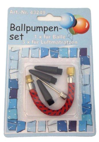 U011 Ballpumpenset 4 Teile, für 1 für Bälle + 3 für Luftmatratzen V2